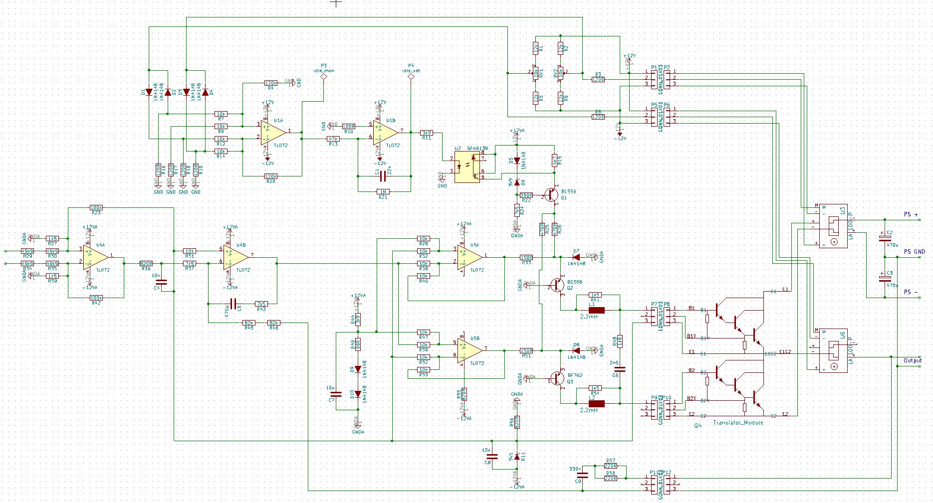 Amplifier Class Ab 12v Circuit